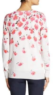 Lela Rose Classic Floral Cardigan