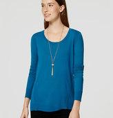 LOFT Stitched Tunic Sweater