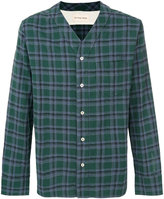 Universal Works V-neck checked shirt