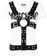 Moschino harness print T-shirt - women - Cotton - 40