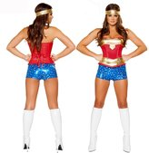 Happy Co. Happy&co Costume Women Luxury Sexy Corset Cosplay Wonder Woman Costume