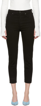 Citizens of Humanity Black Olivia High-Rise Slim Cropped Jeans