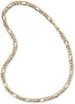 JCPenney FINE JEWELRY Made in Italy Mens 10K Yellow Gold 7.5mm Semi-Solid Figaro Chain Necklace