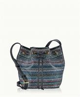 GiGi New York Megan Mini Bucket Bag Black Havana Leather