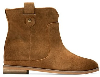 Cole Haan Rayna Suede Wedge Booties