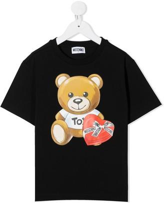 MOSCHINO BAMBINO logo teddy bear print T-shirt