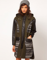 Asos Limited Edition Jaquard Panelled Parka