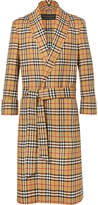 Burberry - Belted Checked Wool Coat