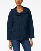 Charter Club Petite Hooded Utility Swing Jacket, Created for Macy's