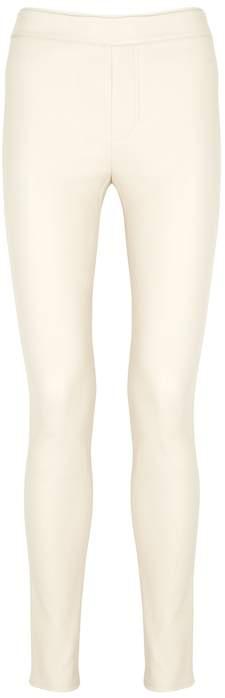 Helmut Lang Ecru Skinny Leather Leggings