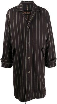 UMA WANG Striped Single-Breasted Coat