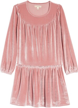 Tucker + Tate Kids' Ruffle Velvet Dress