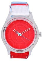 "WR Solar Analog Watch by Tic-Fashion ""Solar Drive"" 50 Meter Red Dial"