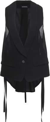 Ann Demeulemeester Lace-up Wool-blend Gauze Vest