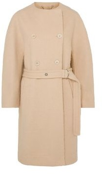 Chloé Double-breasted Belted Wool-blend Felt Coat