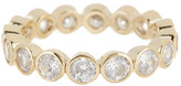 Judith Jack 10K Gold Plated Sterling Silver Round Bezel Crystal Ring - Size 7