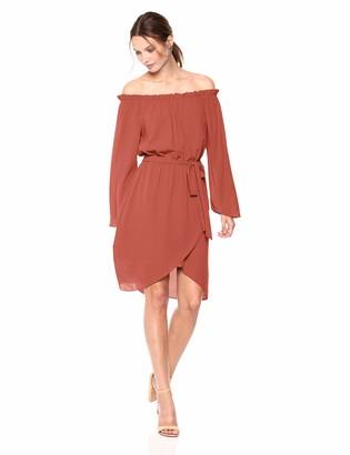 Ali & Jay Women's Get Me to The Greek Off The Shoulder Belted Dress