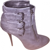 Giuseppe Zanotti Anthracite Leather Ankle boots