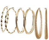Charlotte Russe Embellished Hoop Earrings - 3 Pack