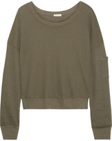 Splendid Waffle-knit Stretch Micro Modal And Supima Cotton-blend Top - Army green