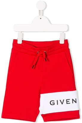 Givenchy Kids contrast logo shorts