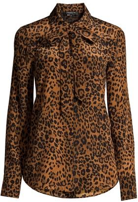 Lafayette 148 New York Diana Silk Leopard-Print Blouse