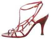 Dolce & Gabbana Embossed Slingback Sandals