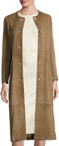The Row Stellan Seamed Suede Coat