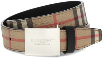 BURBERRY KIDS Checked faux-leather belt