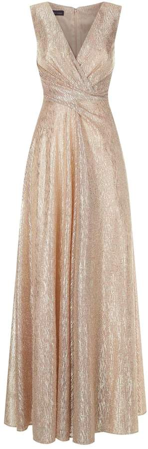 Talbot Runhof Sleeveless Ruched Waist Gown