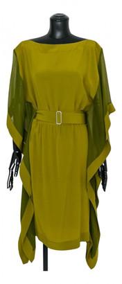 Hermes Green Silk Dresses