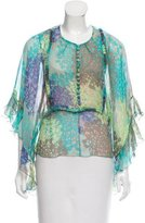 Alessandro Dell'Acqua Silk Sheer Top w/ Tags