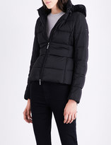 Armani Jeans Faux fur-trimmed shell puffer jacket