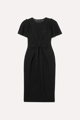 Dolce & Gabbana Bow-detailed Wool-blend Midi Dress - Black