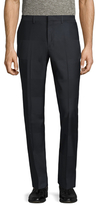 Paul Smith Wool Striped Flat Front Trousers
