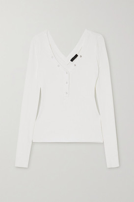 The Range Division Ribbed Stretch-jersey Top - White