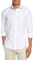 Eleventy Men's Trim Fit Jacquard Sport Shirt