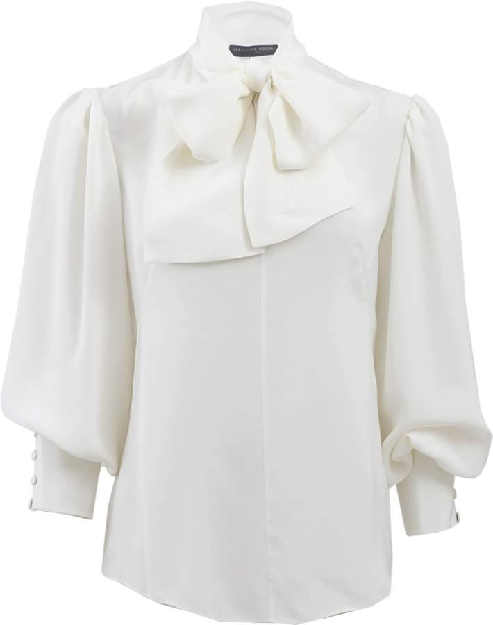 Alexander McQueen Oversized Blouse With Necktie