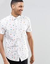 Brave Soul Short Sleeve Shirt in Beach Print