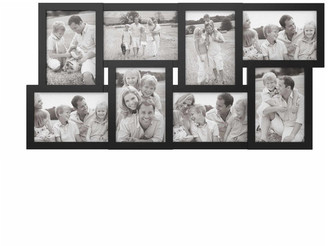 "Lavish Home Black Collage Picture Frame w/ 8 Openings for 4""x6"" Photos by Lavish H"