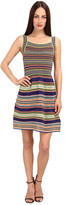 M Missoni Ribbon Stripe Knit Tank Dress