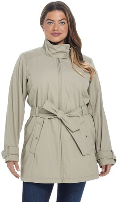 Plus Size Weathercast Modern Trench Coat