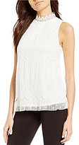 I.N. San Francisco Sleeveless Lace Tank Top