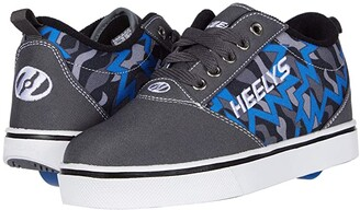 Heelys Pro 20 Prints (Little Kid/Big Kid/Adult) (Charcoal/Blue/Black) Boys Shoes