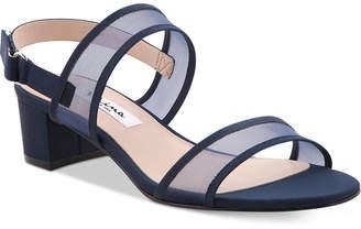 Nina Ganice Block-Heel Evening Sandals Women Shoes