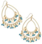 Thalia Sodi Gold-Tone Colored Bead Drop Earrings, Only at Macy's