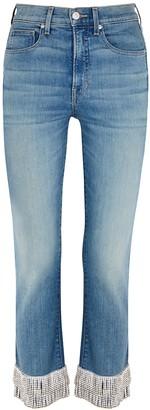 Veronica Beard Ryleigh Embellished Straight-leg Jeans