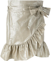 Isabel Marant lamé ruffled skirt