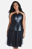 Fashion to Figure Sidney Strapless Faux Leather Dress
