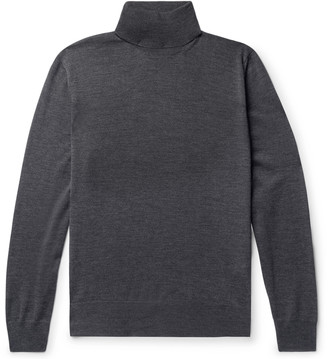 Canali Melange Merino Wool Rollneck Sweater